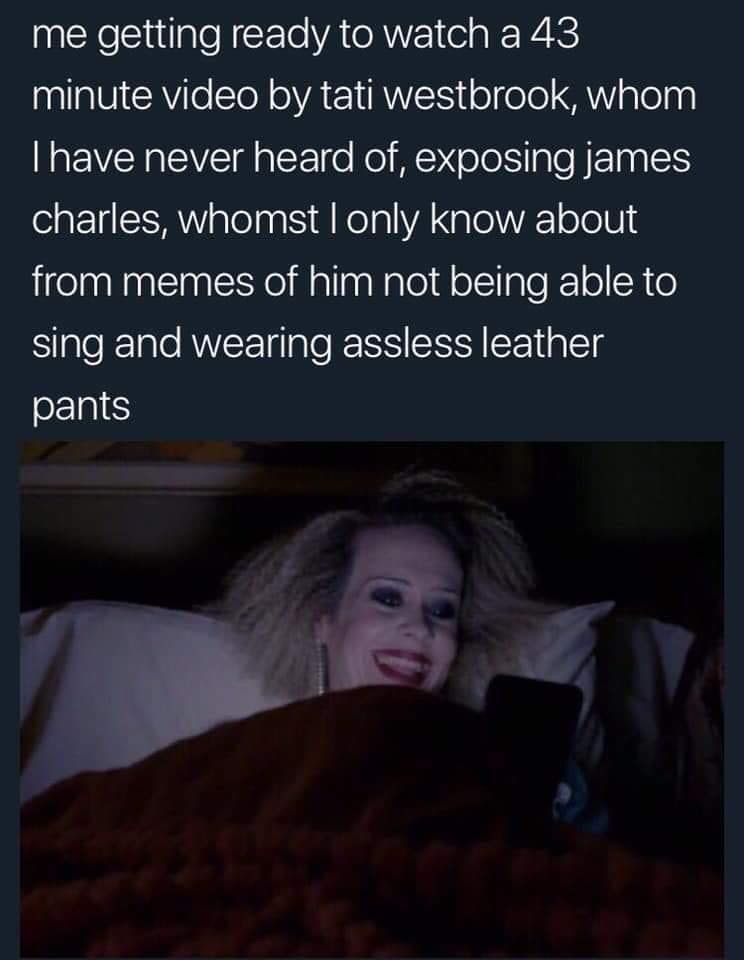 Pin By Ellie On Funny James Charles Memes Leather Pants