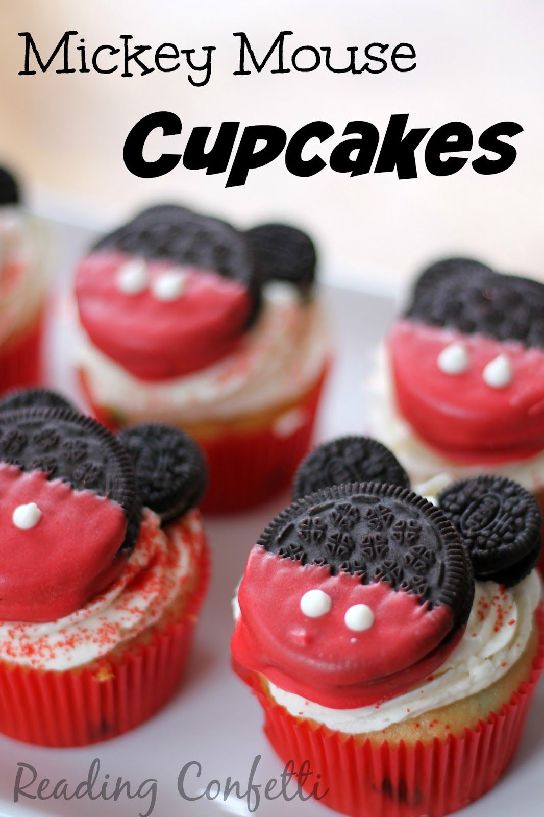 Easy and delicious Mickey Mouse cupcakes cute cakes Pinterest