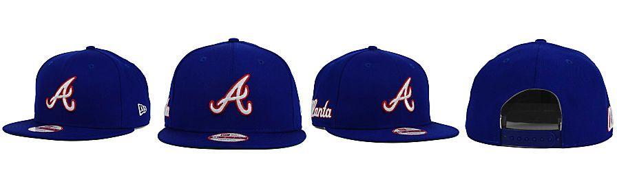 14f20636db4 New Era Atlanta Braves 2 Tone Link Cooperstown 9FIFTY Snapback Cap ...