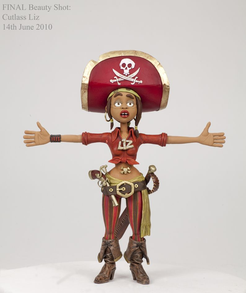 Tandie Langton Pirates In An Adventure With Scientists Cutlass Liz Pirates Stop Motion Character Inspiration