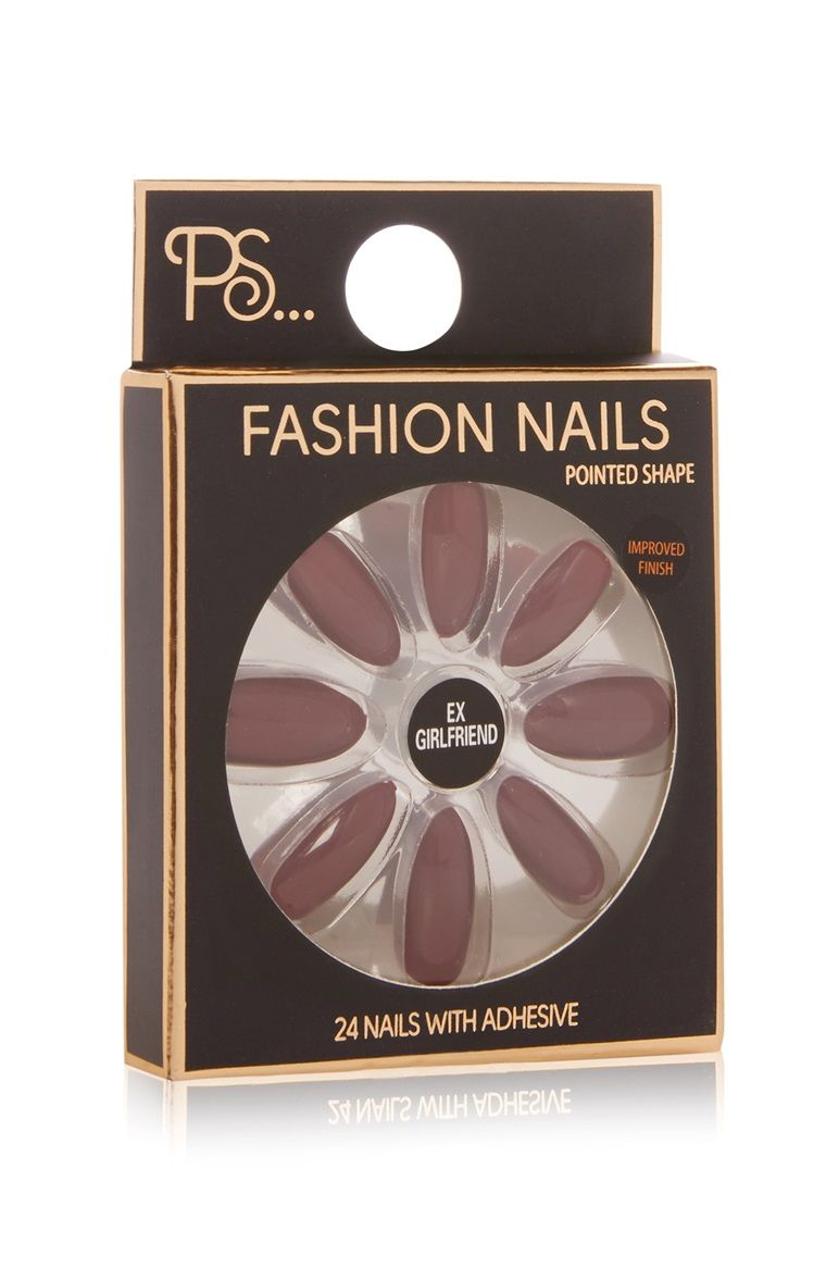 Primark - PS Mauve Pointed Nails | Primark | Pinterest | Pointed Nails And Makeup