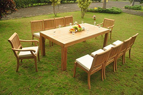 Teakstation 8 Seater Gradea Teak Wood 9 Pc Dining Set 82 Canberra