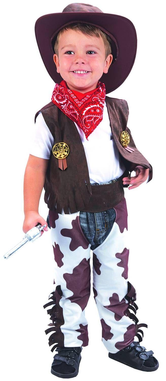 Disfraz de vaquero para niño  Este disfraz de vaquero para niño está  compuesto por un chaleco de imitación de piel. El cubre pantalón es de  imitación de ... 343288f0f29