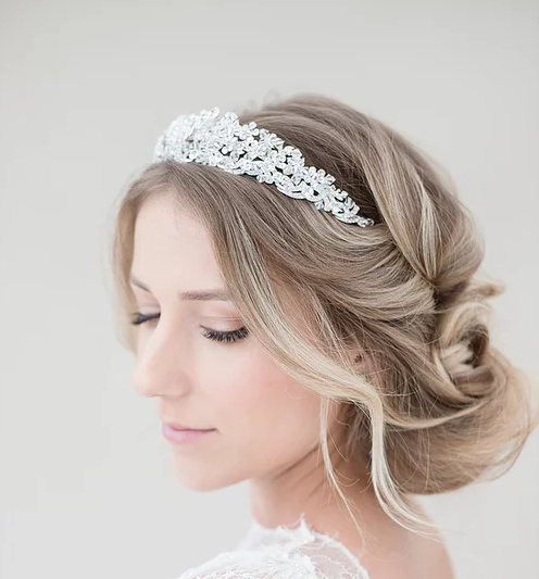 Bridal Tiara,Silver Tiara,Crystal Bridal Crown,Wedding Tiara,Bridal hair vine,Crystals Bridal Wedding Headband,