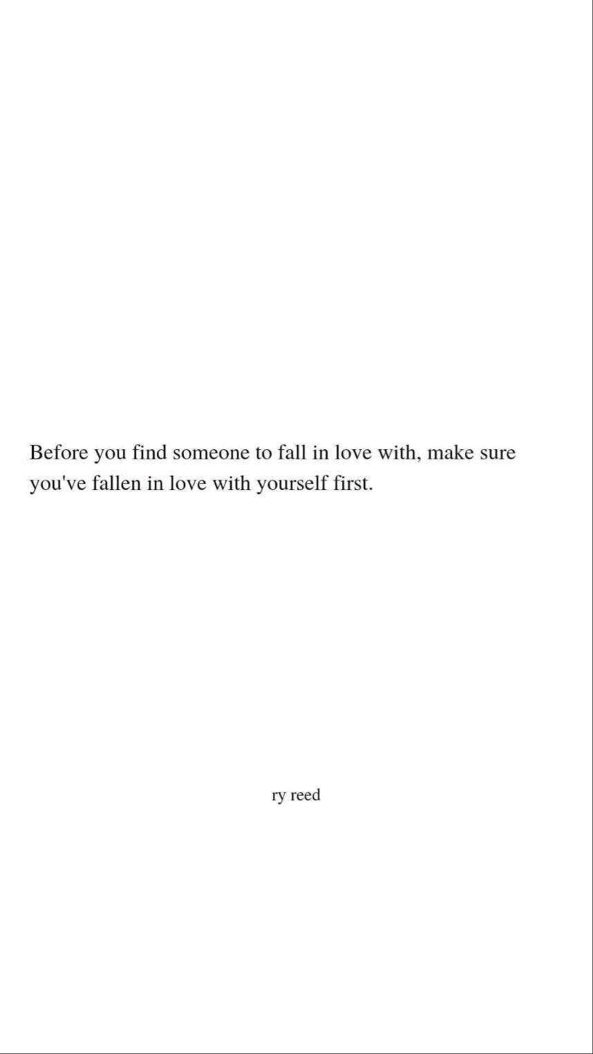 before you fall in love...