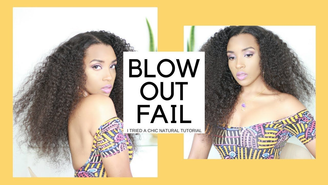 Easy No Heat Blowout On Curly Hair I Tried A Chic Natural Hair Tutorial Youtube Natural Hair Styles Natural Hair Tutorials Hair Without Heat