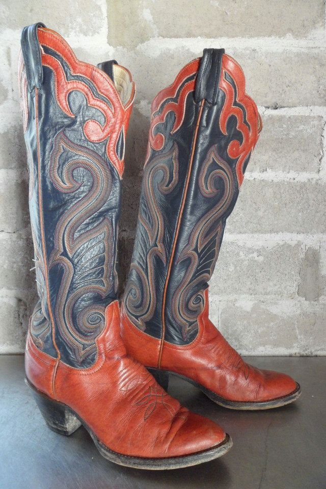 144619071e0 Larry Mahan cowboy boots with leather inlay size 6 | Boots! | Custom ...