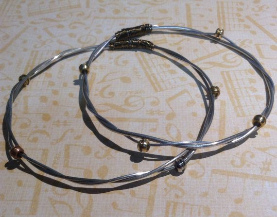 Cello String Bracelet Bangle Style With Twisted By Cimbacreations