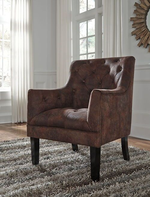 Ashley Drakelle Mahogany Accent Chair Mahogany Accents Accent
