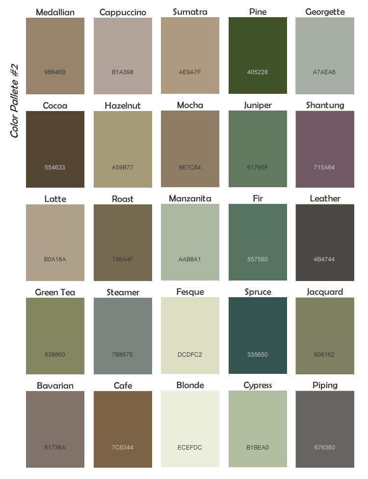 Pacific Northwest Color Palette Home Sweet Home Pinterest
