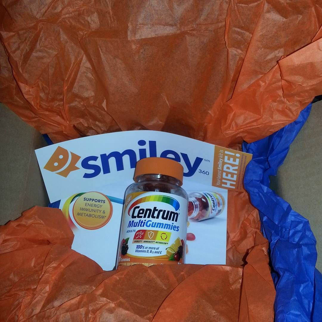 Thanks for my new kit! I feel more energetic after taking my Centrum gummies. #smiley360 #smiley360mission #gotitfree #Centrum