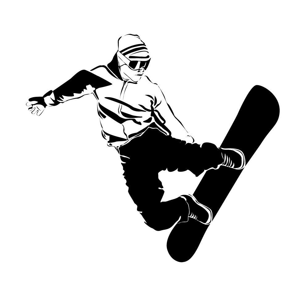 Картинки шаблоны сноубордиста
