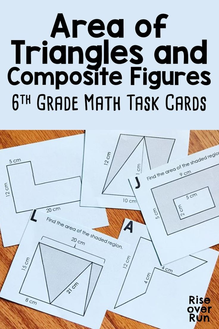 Area of Triangles and Composite Figures Task Cards Task