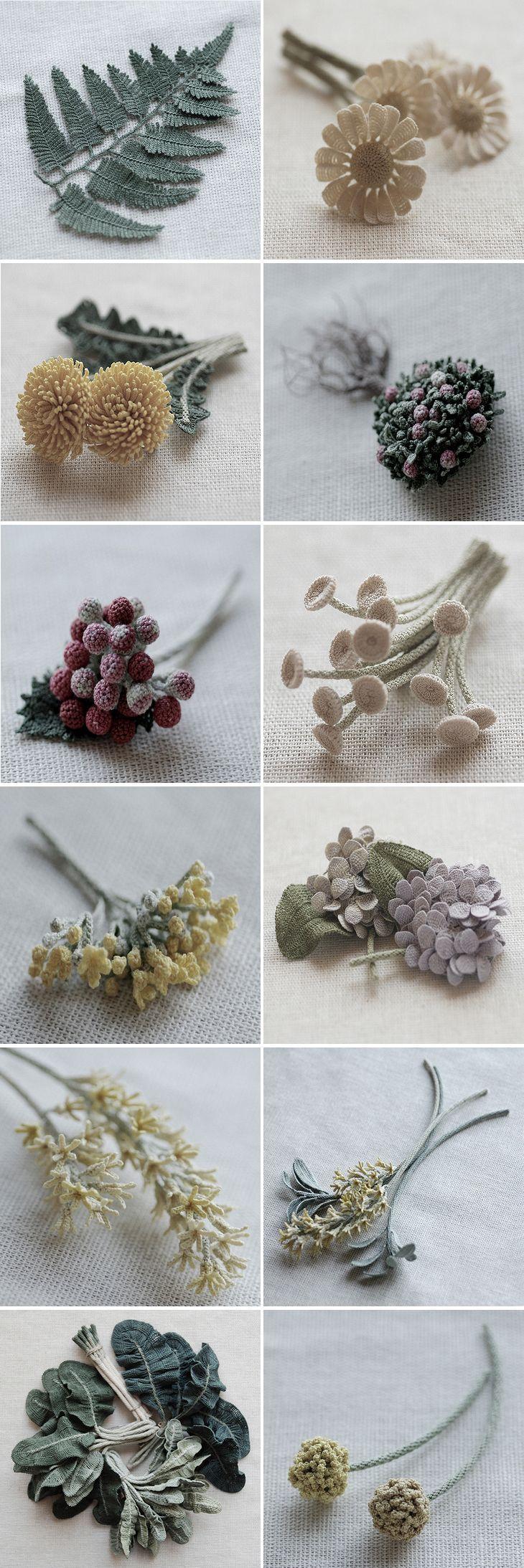 Itoamika Jung Jung's Fiber Art. Blumen häkeln, Häkeln