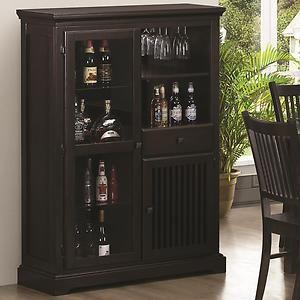Curio Wine Bar Cabinet *Mission Style Walnut or White Finish* & Curio Wine Bar Cabinet *Mission Style Walnut or White Finish* | For ...