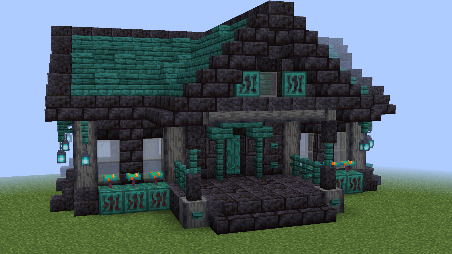 Cute House Made With Nether Blocks By U Armoireeuw Minecraft Decorations Minecraft Crafts Minecraft Blueprints