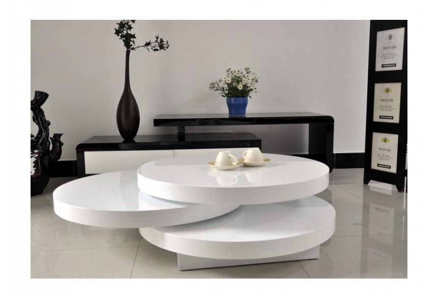 Table Basse Round Plateaux Pivotants Envie De Meubles Table Basse Table Basse Blanc Laque Table Basse Blanc