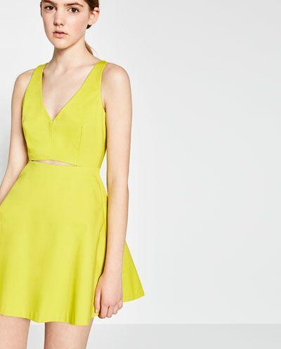 6d42fc5642 DRESS WITH SLIT-DRESSES & JUMPSUITS-WOMAN-PROMOTIONS | ZARA Turkey ...