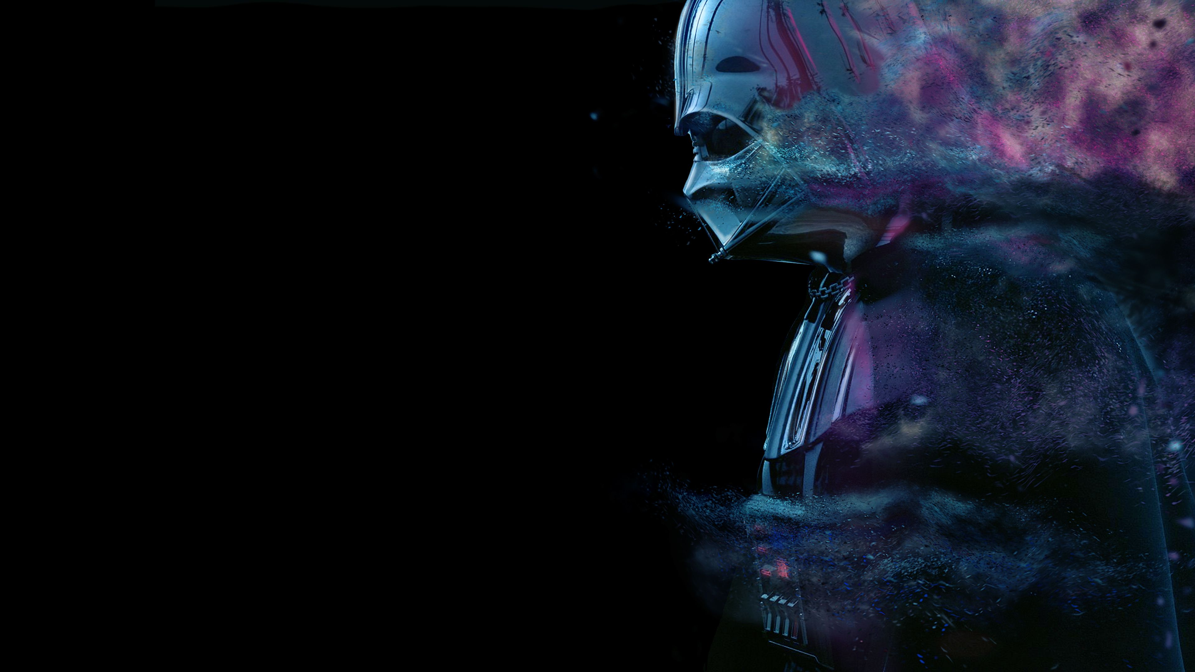 Neon Vader 4k Star Wars Wallpaper Desktop Wallpaper Wallpaper