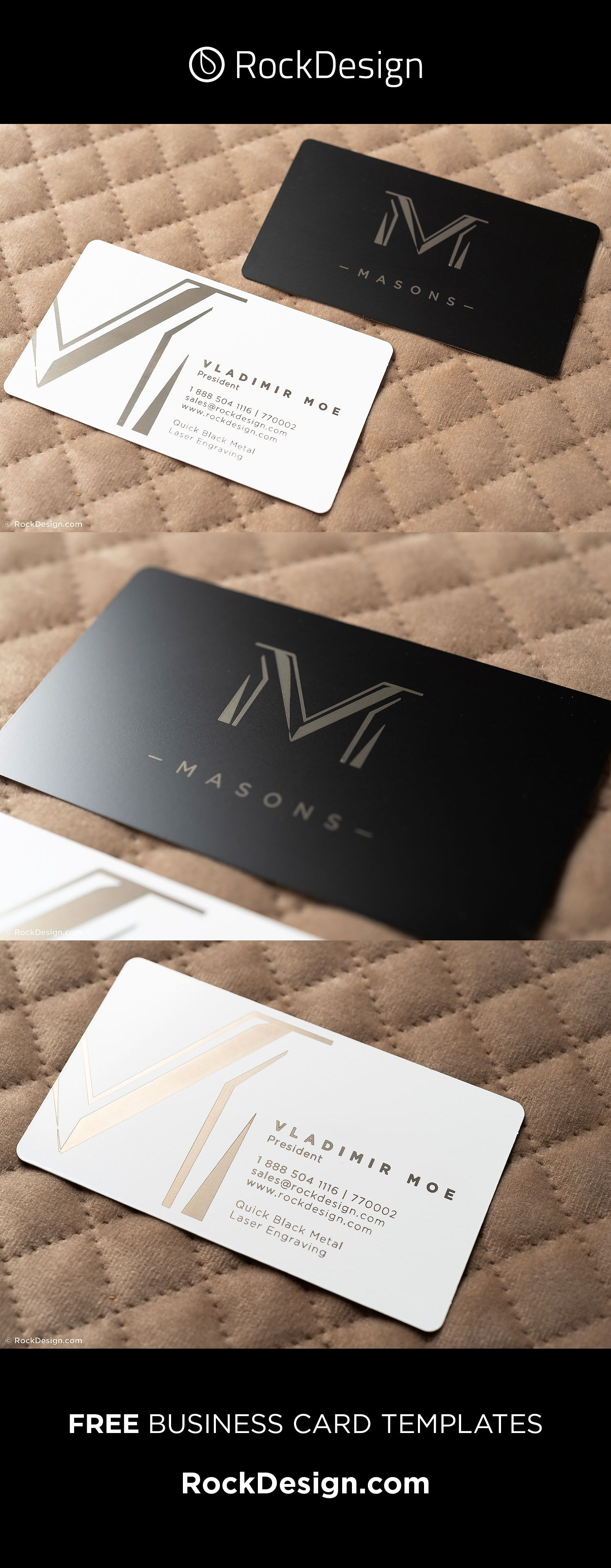 Nice Innovative Stylish Business Card Template Design Masons Metal Business Cards Unique Business Cards Stylish Business Cards