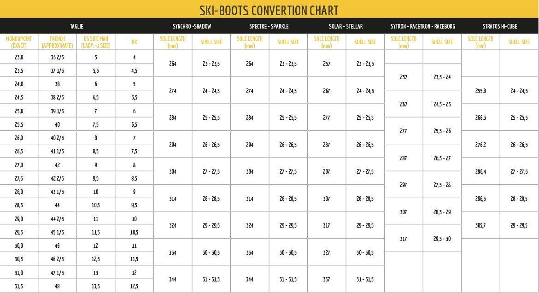 Footwear La Sportiva Shoe Size Chart Chart