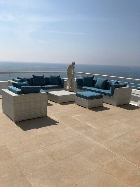 Best White Rattan Modular Sofa White Sofa Blue Cushions 400 x 300