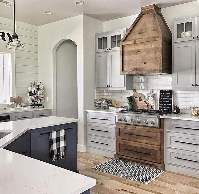 5 Tips On Build Small Kitchen Remodeling Ideas On A Budget: I Like The Build Around Of The Vent #woodworkingprojects
