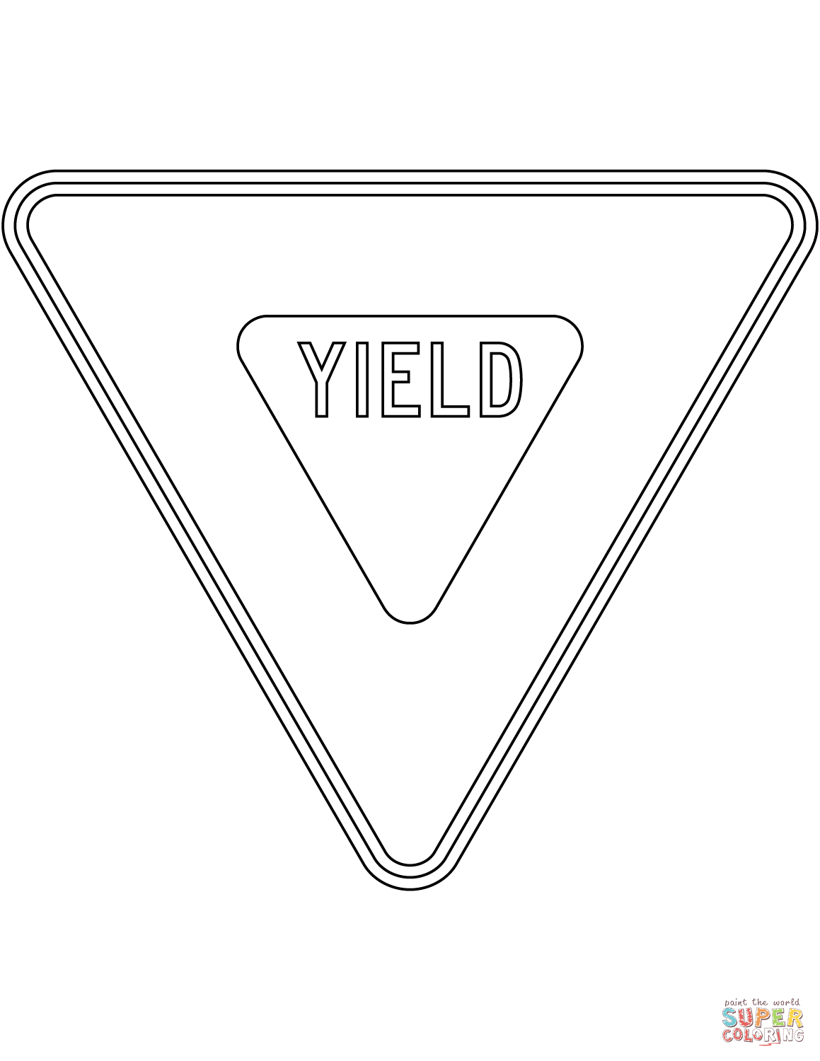 Image Result For Yield Sign To Color Preescolar
