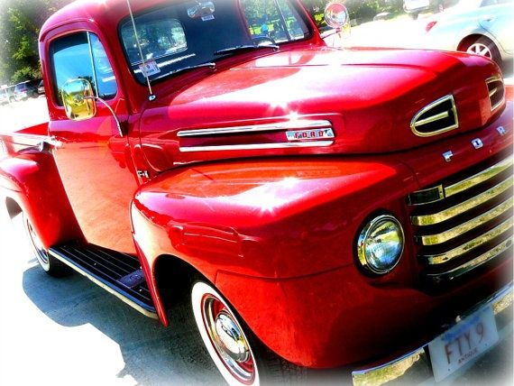 candy apple red vintage trucks | Candy Apple Red 59 Ford (photograph) | Old Trucks = Endless Love