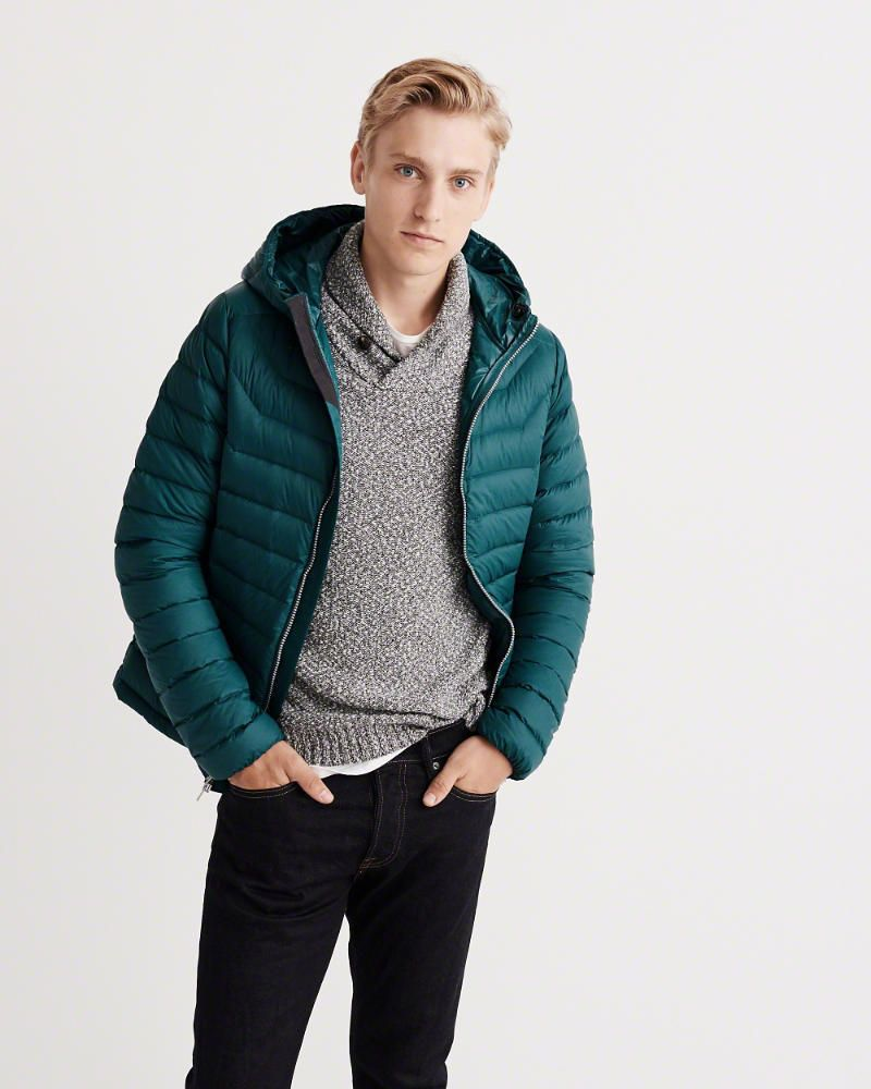 Nwt Men S Abercrombie Fitch Lightweight Hooded Puffer Jacket Teal Size L Men S Coats Jackets Jackets Mens Outfits [ 1000 x 800 Pixel ]