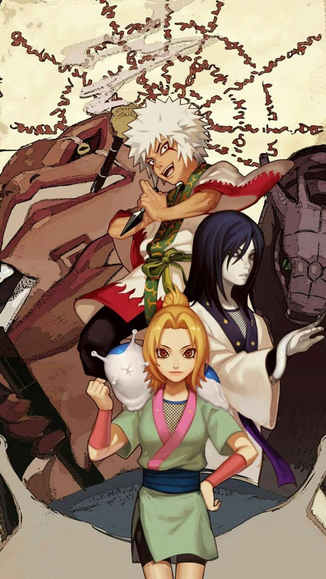 The 3 Sannins Wallpaper Tsunade Orochimaru Jiraiya