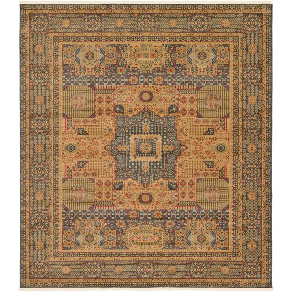 Unique Loom Palace Jackson Blue 10 0 X 11 4 Square Rug 3125658