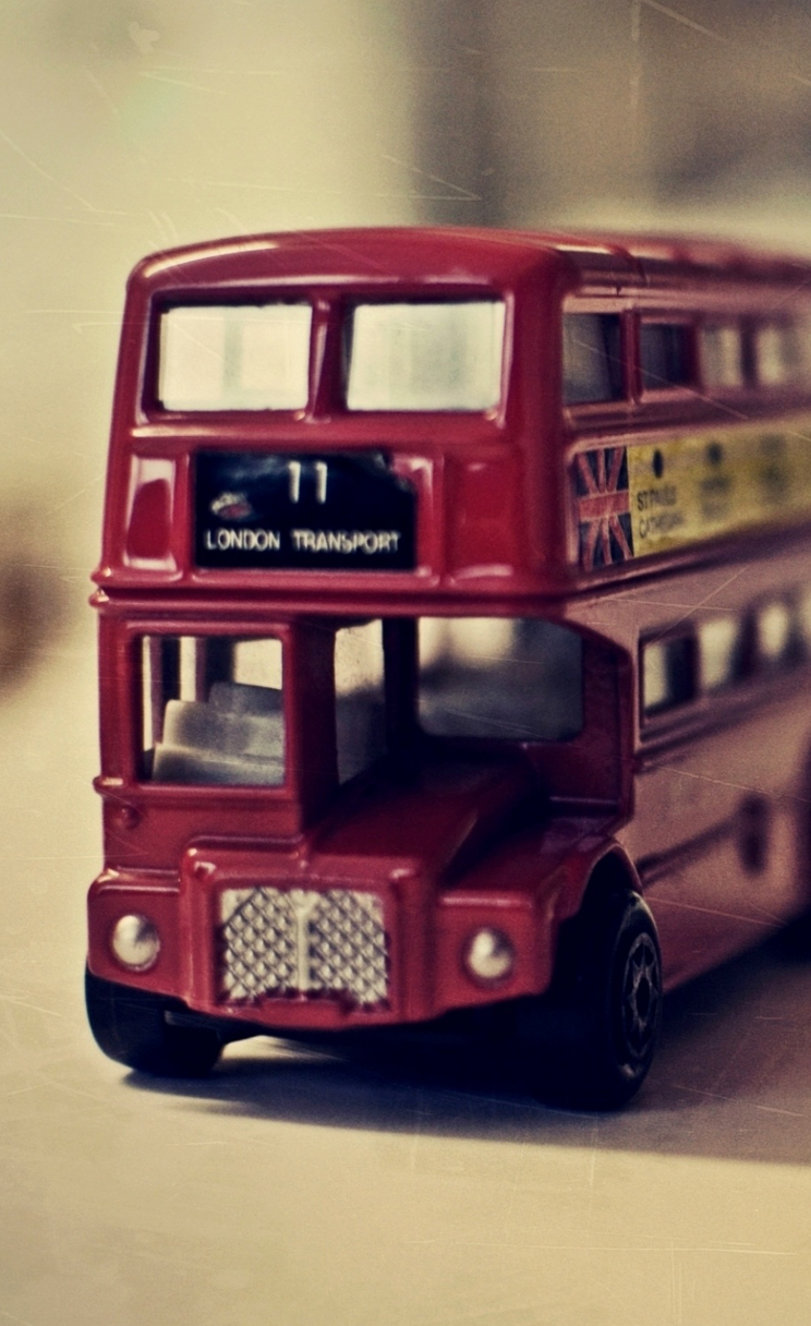 London Vintage Red Double Decker Iphone Wallpapers