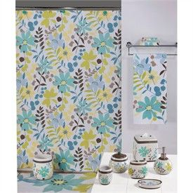 Paradise Tropical Floral; Shower Curtain-Tropical Bathroom Accessories