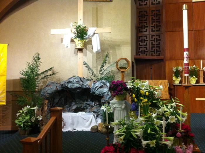 Church Easter Decoration - Dekoracja wielkanocna kosciola | St. Andrew the Apostle Catholic Parish & School | Romeoville, IL