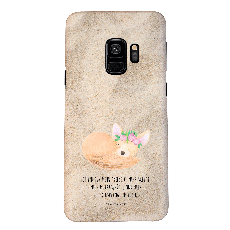 Samsung Galaxy S9 Handyhülle Wüstenfuchs Blumenkranz
