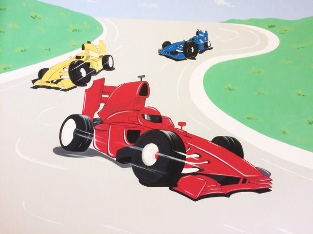 Racing Cars Wall Mural Wall Mural Art For Boys Pinterest Wall