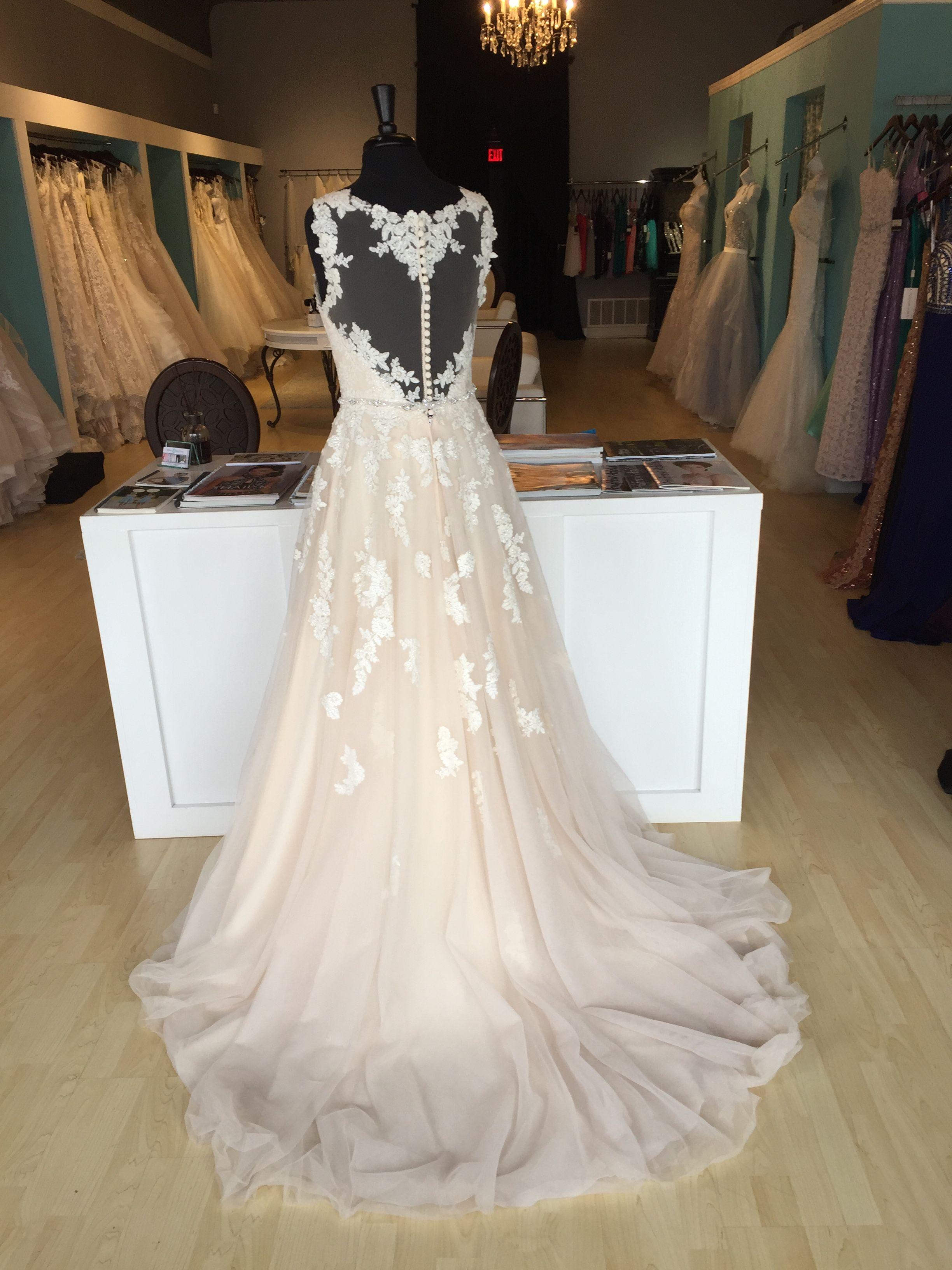 Stella York 6144 Illusion Back Wedding Dress Law Wedding Gown