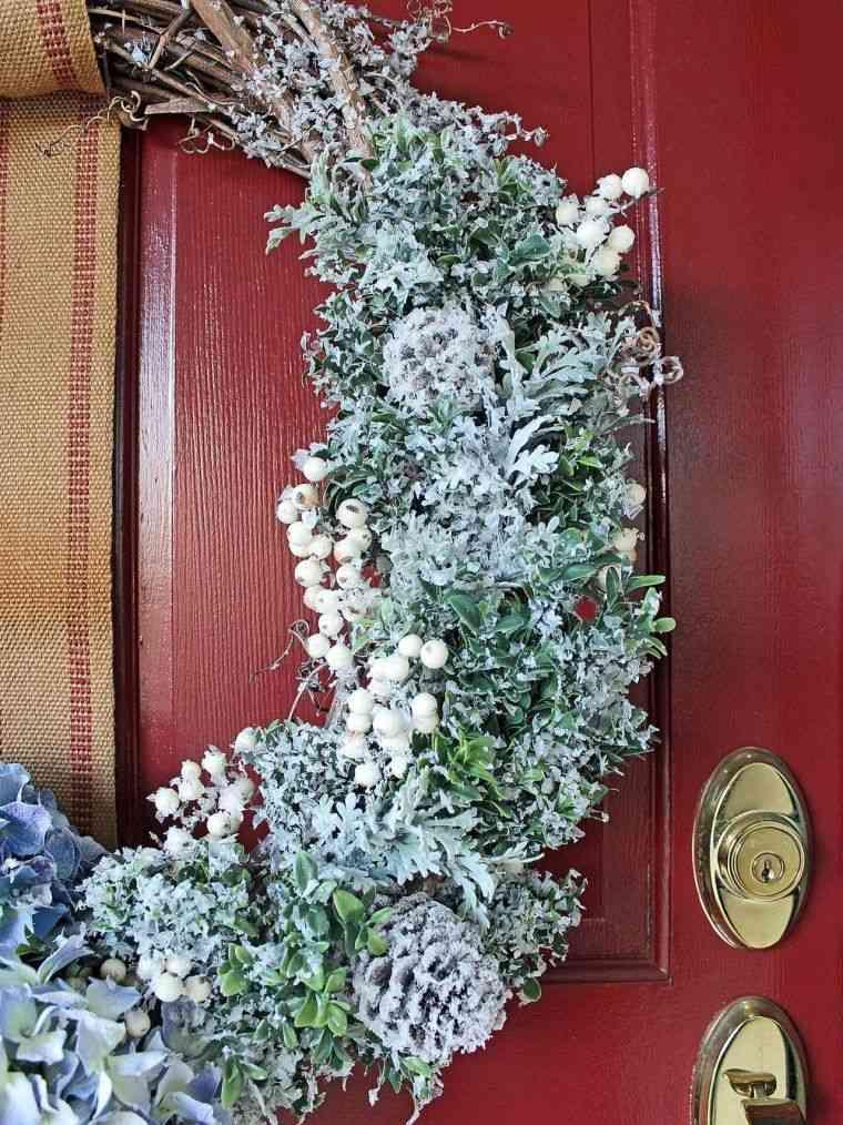 déco Noël extérieur pour la porte du0027entrée