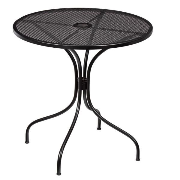 Hampton Bay 28 In Coastal Glass Mosaic Outdoor Patio Bistro Table Hd19153 The Home Depot In 2020 Metal Outdoor Table Bistro Table Outdoor Bistro Table