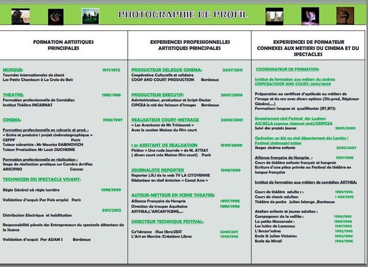 Profil d'experience ERIC SERAFINI