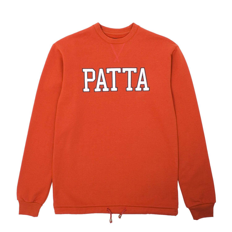 Patta Athletic Cord Crewneck Sweatshirt Crew Neck Sweatshirt Sweatshirts Luxury Streetwear [ 1500 x 1500 Pixel ]