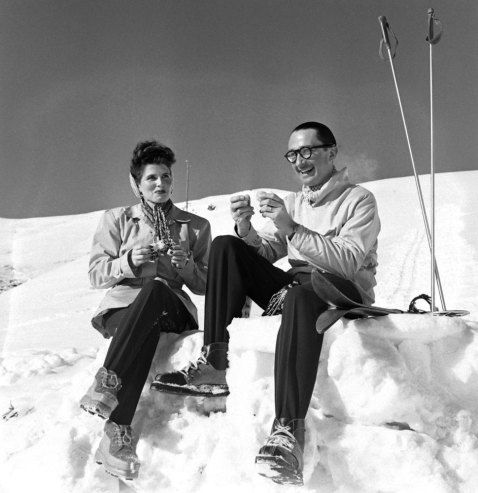 St. Moritz, Switzerland, 1947.