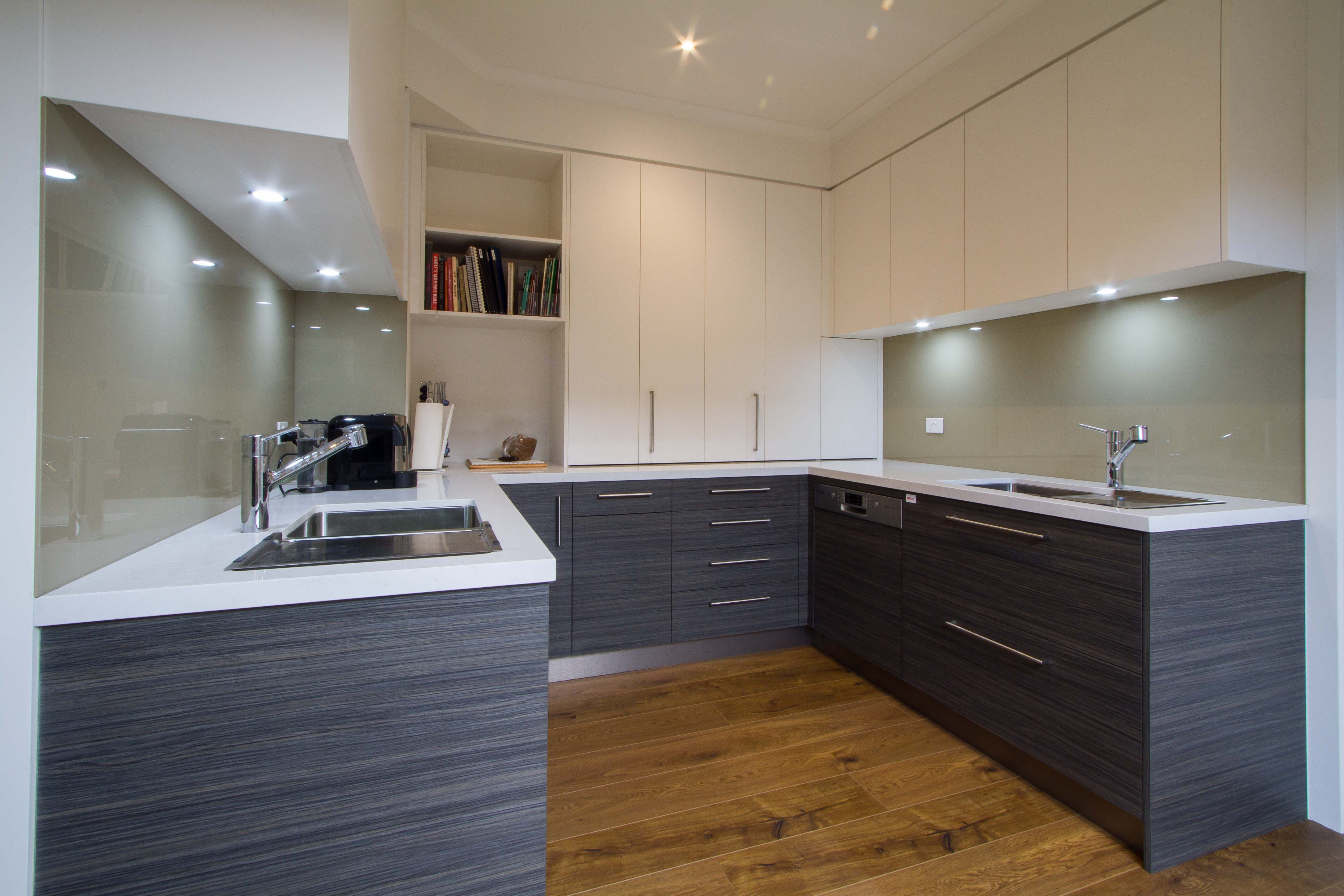 Modern kosher kitchen with scullery butlers pantry