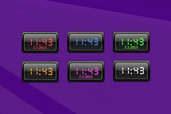 Creativx Digital Clock Windows 10 Gadget
