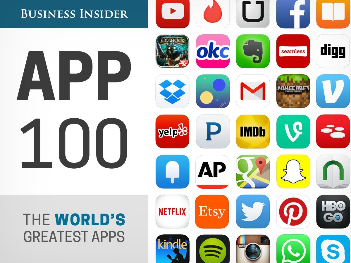 The App 100 The World's Greatest Apps App store, App