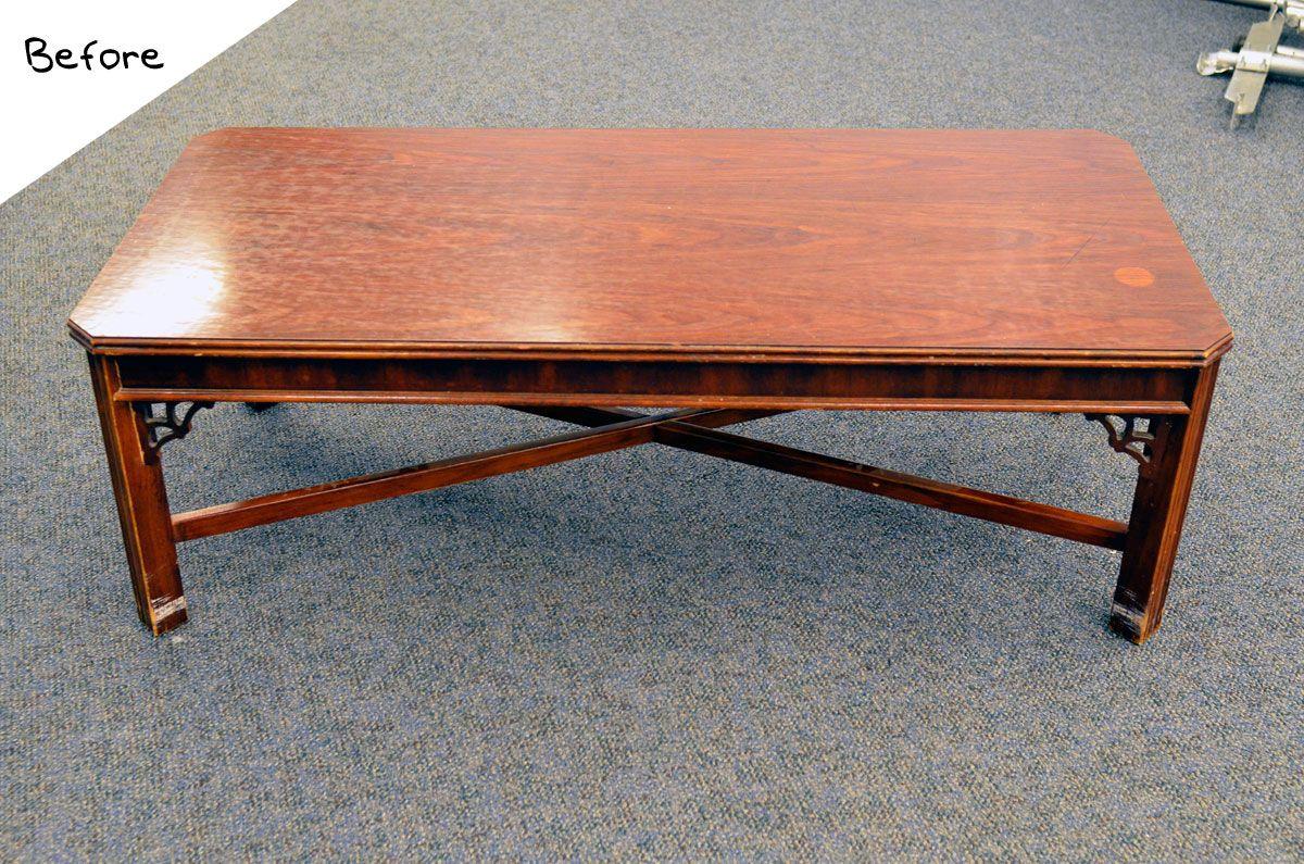 The Nate Berkus Show Diy Coffee Table Painted Coffee Tables Diy Coffee Table Diy Table Legs [ 795 x 1200 Pixel ]