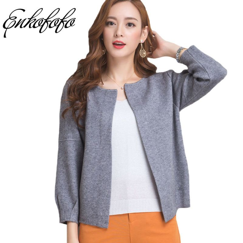 72593d12b Cashmere Sweater Women 17 New Autumn Brand Long-sleeved Full Cardigans Coat  Female Casual Cardigan Thick Wool Sweaters Jacket