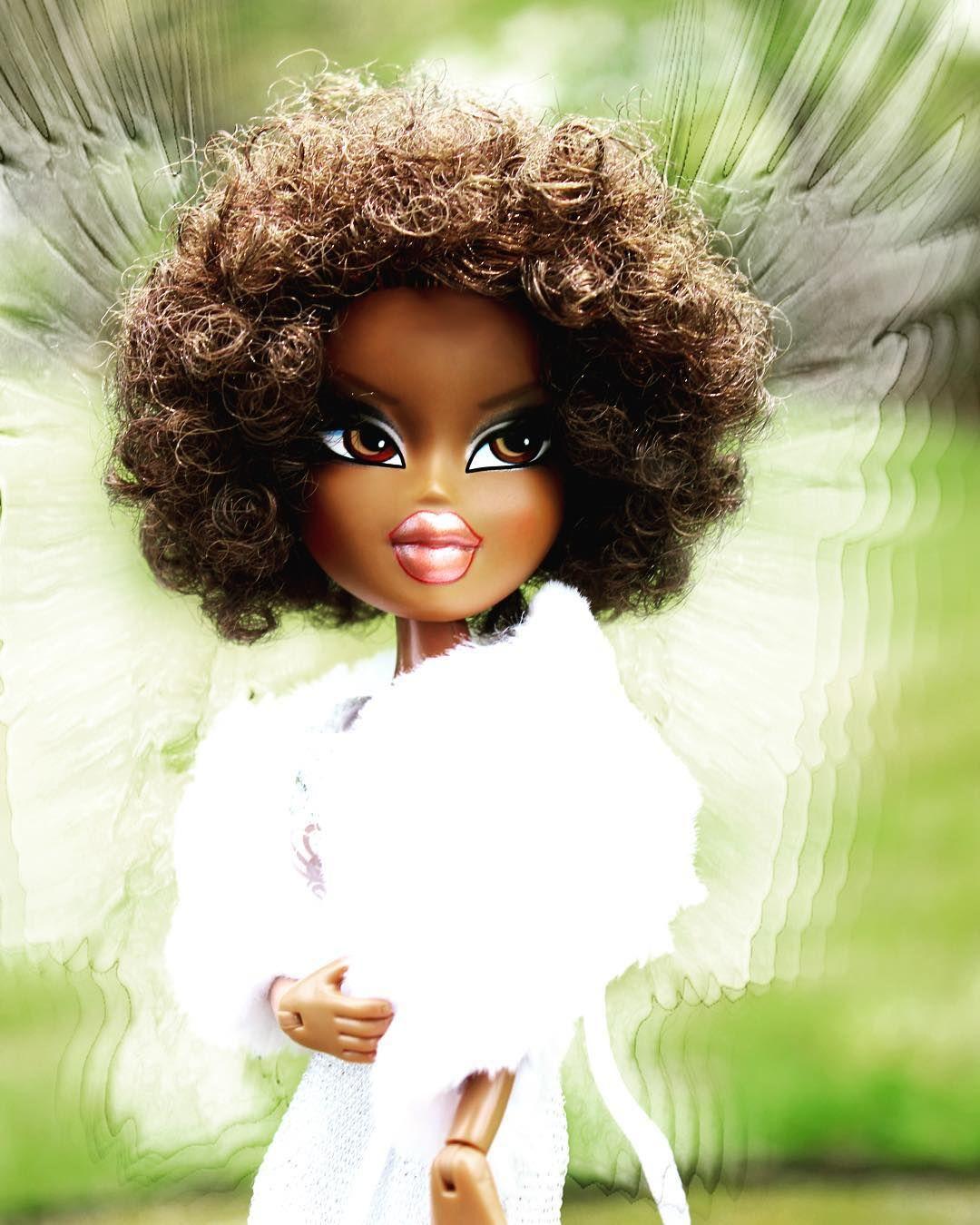 Sasha When She Is Trying To Steal Cloe S Nick Name Xd Bratz Sasha Angel Doll Dolls Dollartistry Toyartistr Black Bratz Doll Brat Doll Bratz Doll Makeup