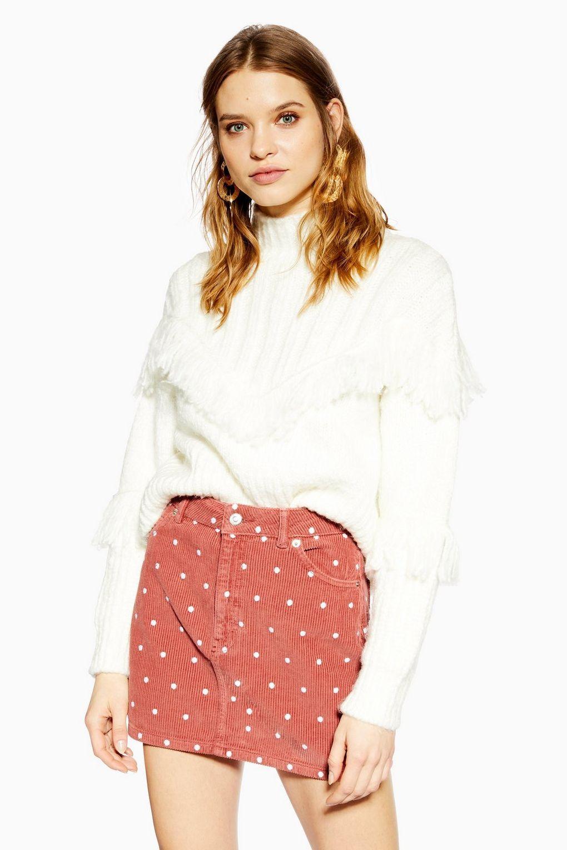 96cdc0996 Pink Spot Corduroy Skirt in 2019   TopShop   Corduroy skirt ...